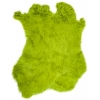 Rabbit Fur Skin - Medium Grade  Dyed Lime (1pc)